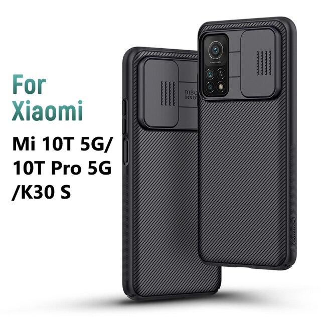 Nillkin capa redmi k30s para celular xiaomi, proteção traseira da câmera, com protetor de privacidade, 6.67 polegadas
