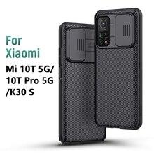 Redmi K30s מקרה עבור Xiaomi Mi 10T 5G מקרה 6.67 NILLKIN CamShield שקופיות מצלמה פרטיות חזרה כיסוי עבור Xiaomi Mi 10T פרו 5G מקרה