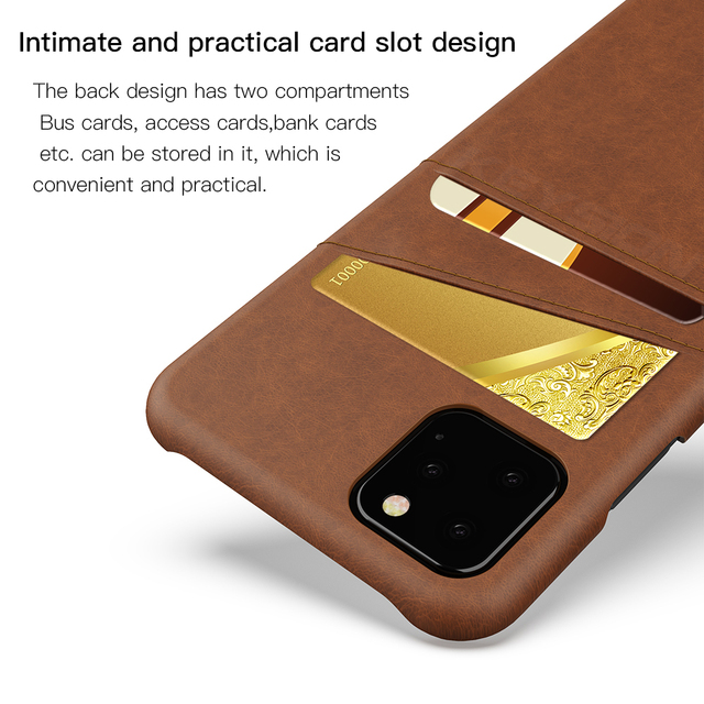KEYSION Leather Card Pocket Cases for iPhone 11/11 Pro/11 Pro Max 2