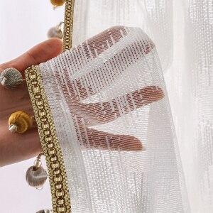 Image 3 - Nowoczesny styl fali tiul na firanki kurtyna czysta biała dekoracja willi transmisja światła zasłony do sypialni salon kuchnia