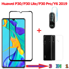 3-in-1 Tempered Glass for Huawei P30 Lite Pro Y6 2019 Camera Screen Protector