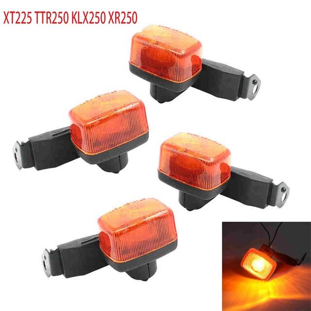 مؤشر إشارات الفرامل الأمامية الخلفية للدراجات النارية مصباح ضوء المؤشر لياماها XT225 TTR250 KLX250 honda XR250 XR TTR KLX 250
