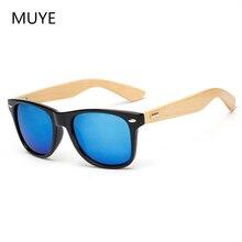 Оригинальные деревянные солнцезащитные очки из бамбука мужские и женские зеркальные UV400 Солнцезащитные очки настоящие деревянные оттенки золотые синие уличные очки солнцезащитные очки мужские