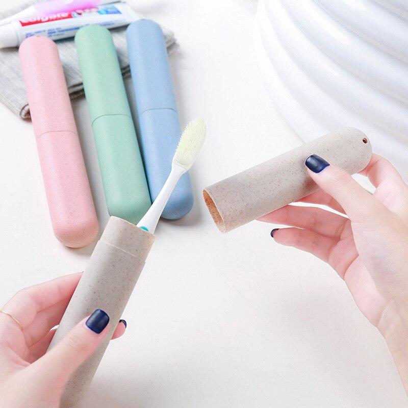 ETya Travel Packing Organizer Women Men Toothbrush Tube Cover Case Cap Plastic Suitcase Baggage Boarding Toothbrush Holder Box
