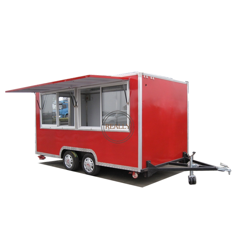 Australian Standard Food Trailers Mobile Food Trailer Lunch Wagons Coffee Kiosk With 4 Wheels