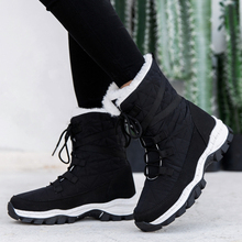Winter 2020 new snow boots high top Plush thickened anti-skid cotton boots outdoor high boots large size women's shoes