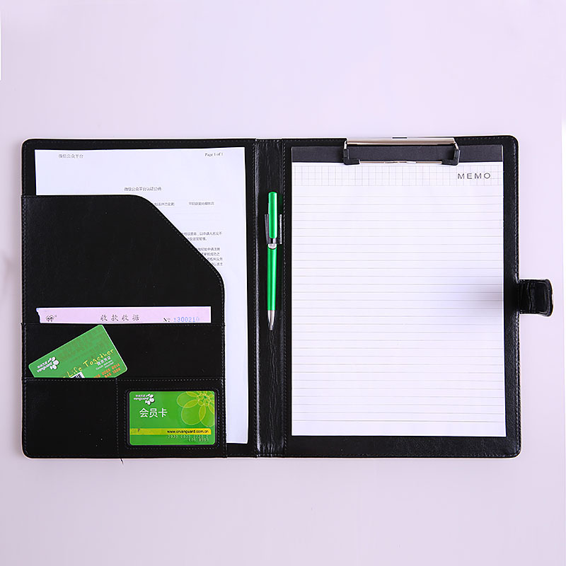 Image 5 - A4 Clipboard Folder Portfolio Multi function Leather Organizer Sturdy Office Manager Clip Writing Pads Legal Paper ContractPadfolio   -