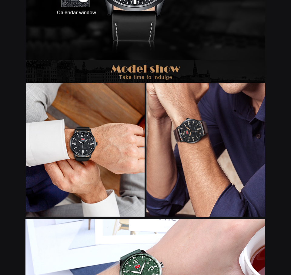 H9d10fa396139433eb955db0da37fa9bbQ MINI FOCUS Luxury Brand Men's Wristwatch Quartz Wrist Watch Men Waterproof Brown Leather Strap Fashion Watches Relogio Masculino