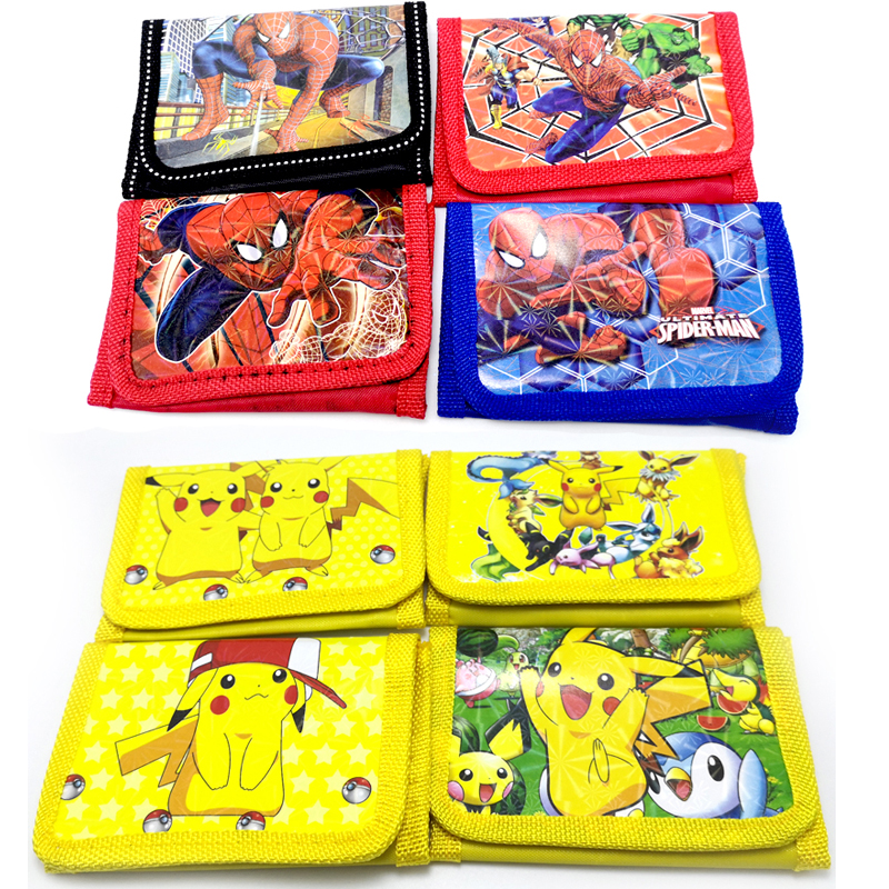 1pcs/lot Spiderman/Pokemon/Baby Boss Theme Birthday Party Children's Cartoon Wallet Kids Boys Favors Decorations Coin Purse