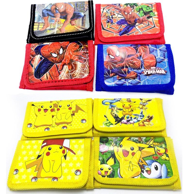 1pcs/lot Spiderman/Pokemon/Baby Boss Theme Birthday Party Children's Cartoon Wallet Kids Boys Favors Decorations Coin Purse