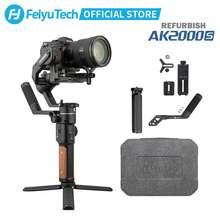 Feiyutech ak2000s dslr estabilizador de câmera profissional vídeo handheld cardan mirrorless 2.2 kg carga útil apto para sony canon usado