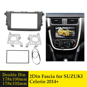 Double Din Car Radio Fascia for Suzuki Celerio 2014+ Dash CD Trim Kit Audio Adapter Frame GPS DVD Player Facia Panel Frame Bezel image
