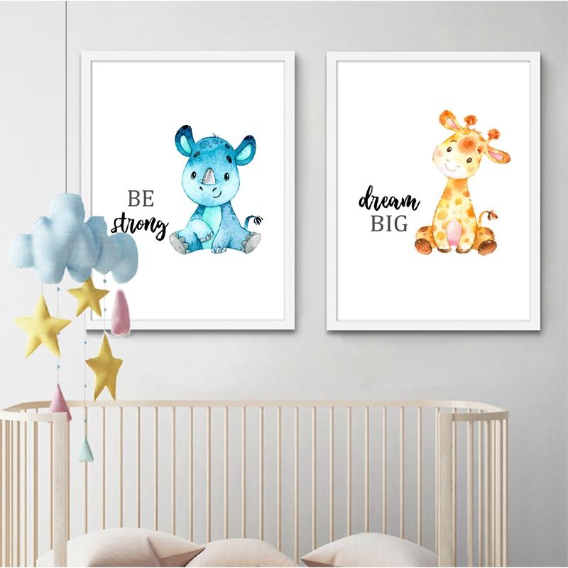 Baby Animals Poster Baby Room Art Decor