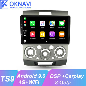 цена на OKNAVI Android 9.0 Car Multimedia Player For Ford Everest/Ranger for Mazda bt 50 2006 2007 2008 2009 2010 Radio GPS Navigation