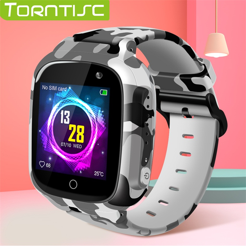 Torntisc 2019 LEC2 Kids GPS Smart Watch WIFI SOS Sim Card Video Voice Call Anti lost 0.3 MP Camera Smartwatch Kids For Children-in Smart Watches from Consumer Electronics on AliExpress