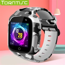 Torntisc 2019 LEC2 Kids GPS Smart Watch WIFI SOS Sim Card Video Voice Call Anti lost 0.3 MP Camera Smartwatch Kids For Children