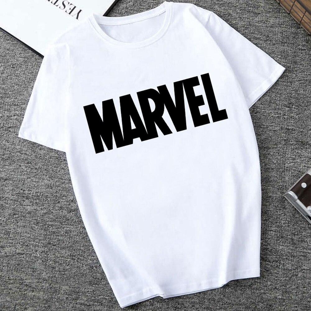 Men's   T  -  shirts   Fashion Marvel Avengers Print Hipster Funny   t     shirt   Men Summer Casual street Hip-hop Tee   shirt   Male Tops