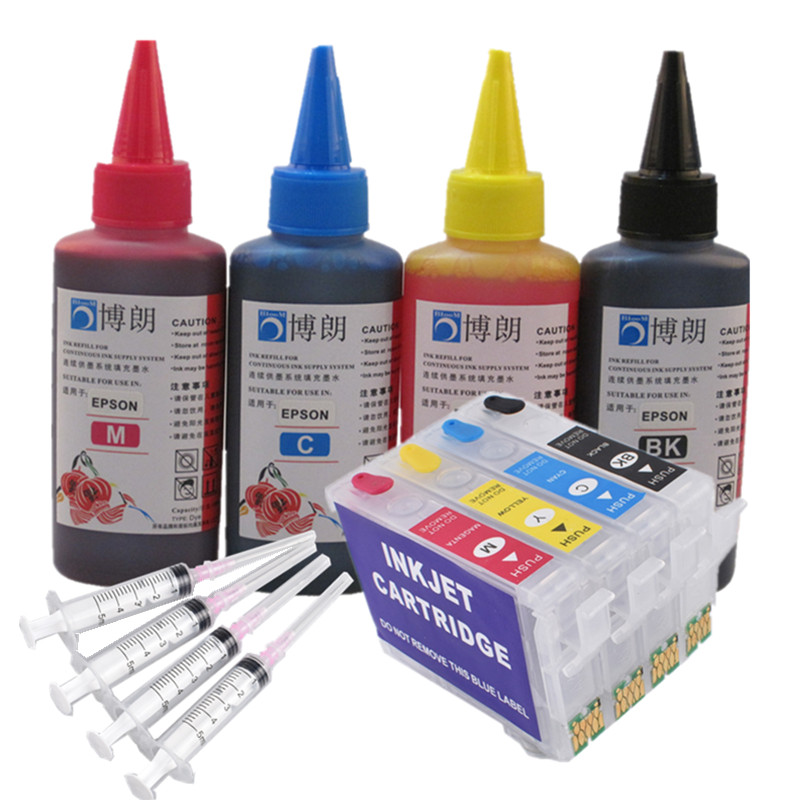 Refill Ink Kit For 502XL 502 Ink Cartridge ARC Chip For EPSON Expression XP-5100/XP-5105 WorkForce WF-2860DWF/WF-2865DWF Europe