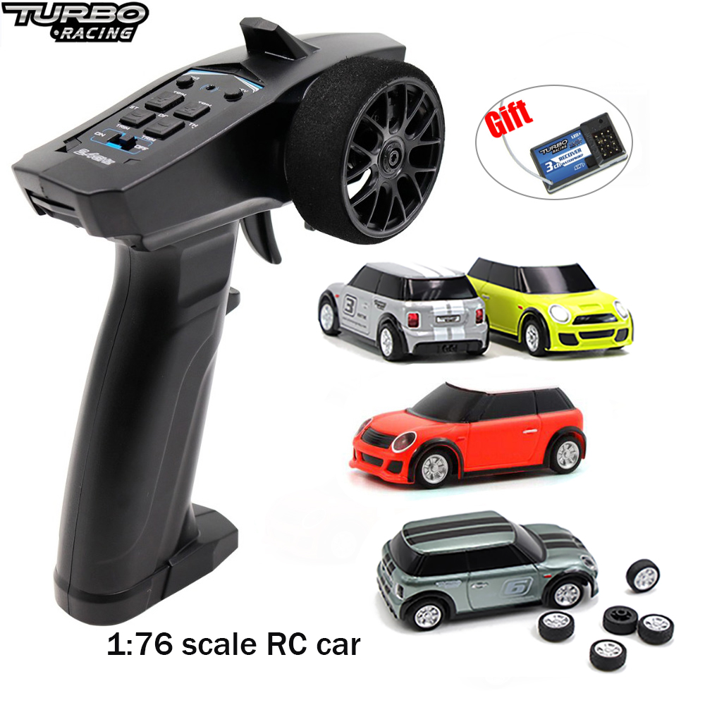 1:76 RC Mini Car Turbo Racing Proportional Race RTR Car with 2.4GHz 91803G-VT Transmitter Children Toys Patent Car New Year Gift