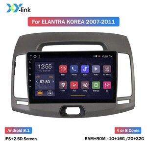 Hyundai Elantra corée-lecteur DVD 2,5d 9 pouces 8 Core Android 8.1   Autoradio de Navigation gps pour voiture, 2008-2010