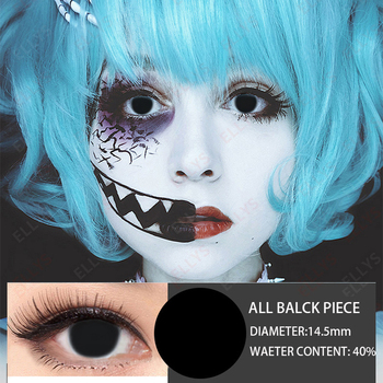 2020 Full Black Color Cosmetic Contact Lens Men Crazy Halloween Women Cosplay Contact Lens for Men Women Student image