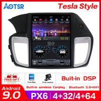 Tesla style PX6 Android 9.0 Car multimedia player For Honda Accord 9 2012 2017 Car GPS navigation head unit radio tape recorder