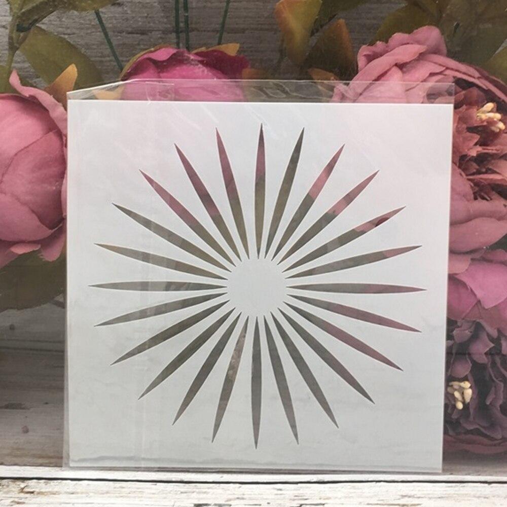 1Pcs 13*13cm Sun Light DIY Layering Stencils Painting Scrapbook Coloring Embossing Album Decorative Template