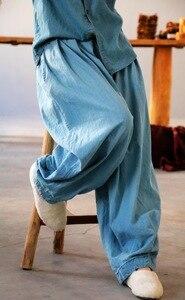 Image 1 - YoYiKamomo デニム女性のパンツ 2018 春夏新作オリジナル弾性ウエストオリジナルジーンズハーレムズボンのファッションパンツ