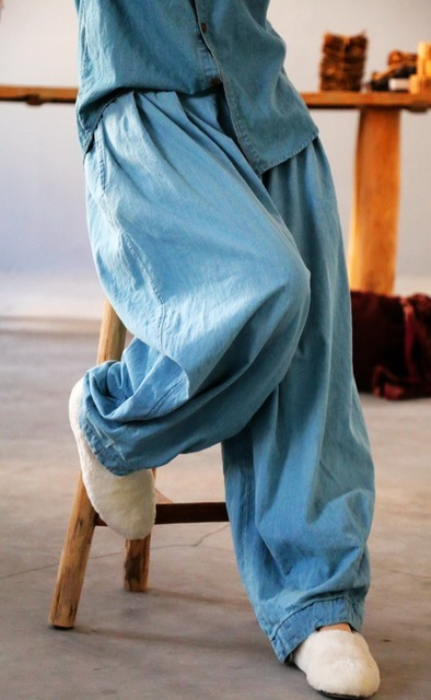 YoYiKamomo デニム女性のパンツ 2018 春夏新作オリジナル弾性ウエストオリジナルジーンズハーレムズボンのファッションパンツ