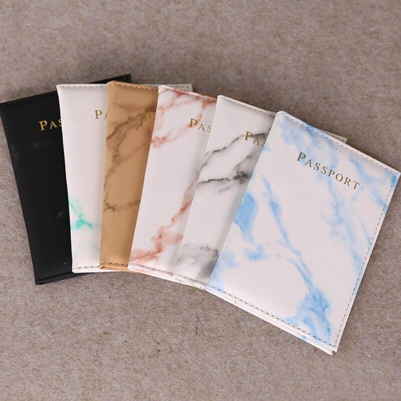 1 Pcs Kawaii Marble Style Passport Cover Waterproof Passport Holder Travel Cover Case Passport Holder Passport Packet
