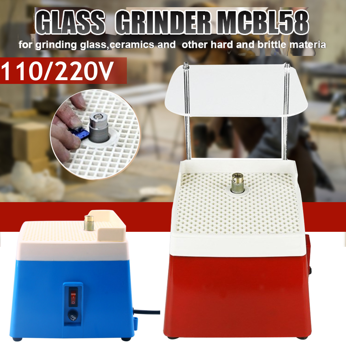 110V/220V Portable Mini Stained Electric Grinder Diamond Glass Art Glass Grinding Tool Fit For MCBL1/MCBL58
