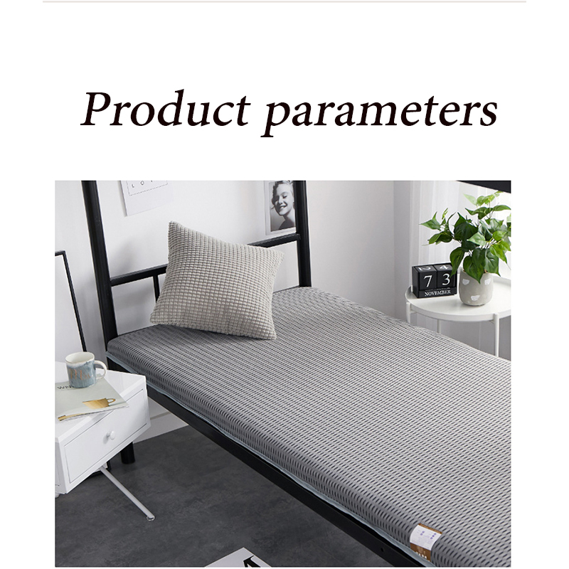 New Fashion 2020 6cm Thickness 4D Breathable Mesh Fabric Hard Sponge Filling Mattress Double Sided Four Seasons Folding Bed