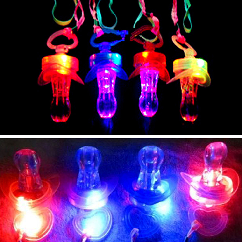 Glowing Pacifier Glow Stick Fun Toy Pacifier Stick Carnival Light Colorful Party