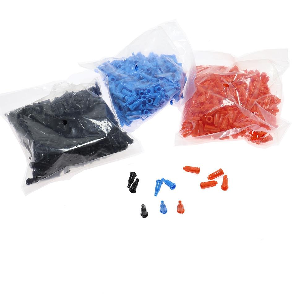 50pcs Luer Lock Syringe Plug Screw Needle Precision Tips Liquid Dispenser Syringe Needles Gauge Tips Glue Dispensing
