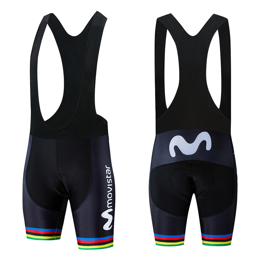 Movistar Pro Team Tights Cycling Shorts Men Bib Anti Slip Gel Cycling MTB Bike Shorts Mountain Bicycle Short Pants ciclismo