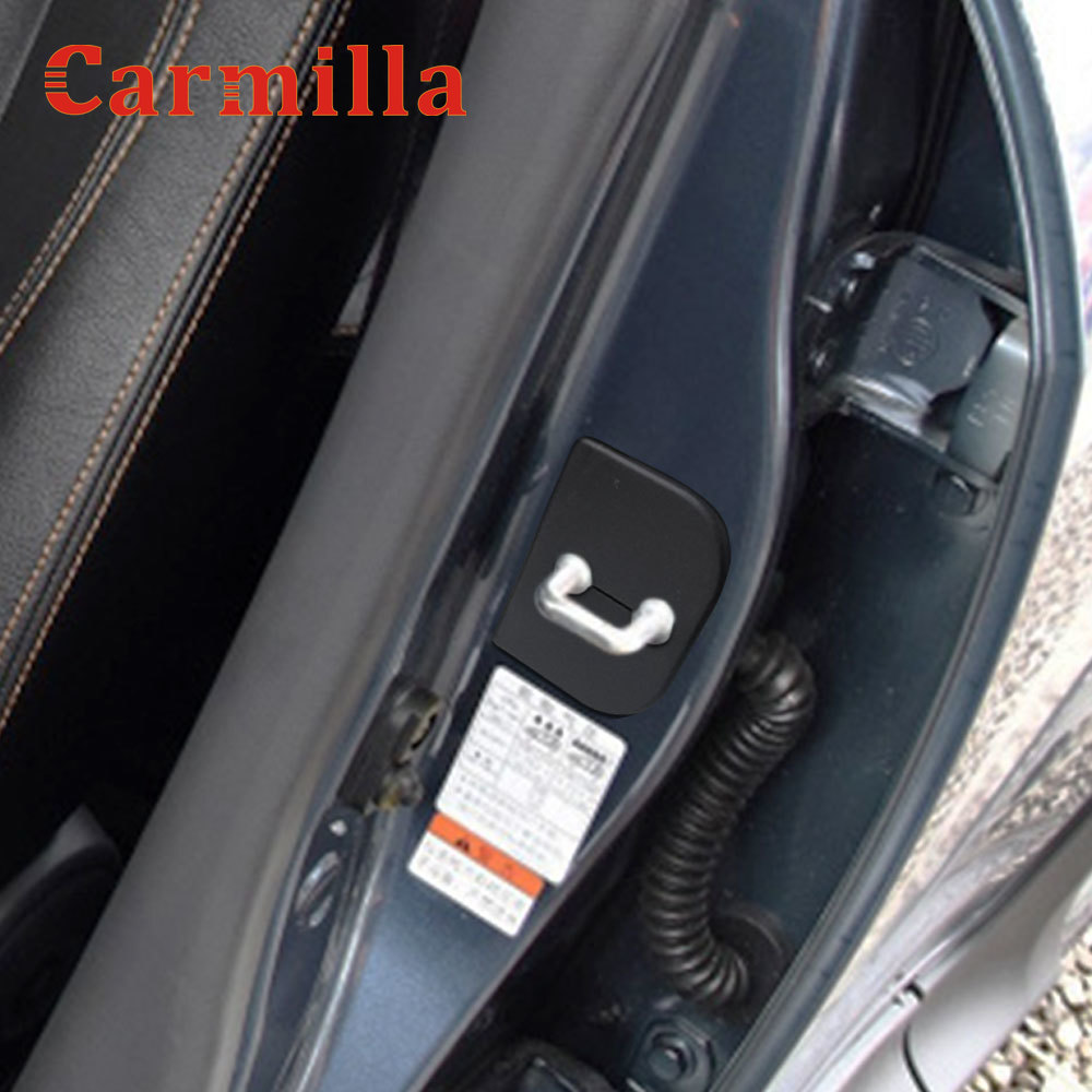 Carmilla Car Door Lock Protection Cover Antirust Buckle Cap Waterproof Cap For Suzuki Swift S-Cross Alto Splash SX4 Jimny Sierra