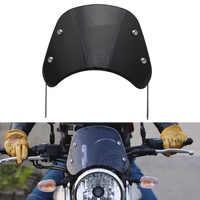 "ABS negro motocicleta 6,5 ""-9,45"" Faro parabrisas Deflector de viento parabrisas Universal para Harley Honda Yamaha Kawasaki Suzuki"