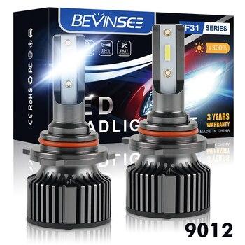 H4 H7 автомобильная светодиодная головная светильник H1 H4 H11 9005 HB3 9006 HB4 9012 H7 светодиодные лампы CSP 10000LM 6000K мини Размеры автомобилей головной све...