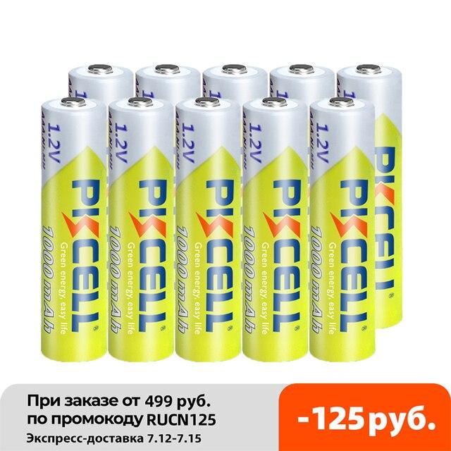 10PCS PKCELL 1.2v NI-MH AAA Battery 3A 1000MAH AAA Rechargeable Battery aaa nimh battery batteries rechargea for flashlight toys 2