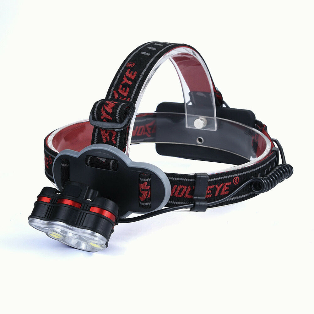 200000lm 5x XM-L T6 2x LED USB Headlamp 18650 Torch Rechargeable FlashLight US