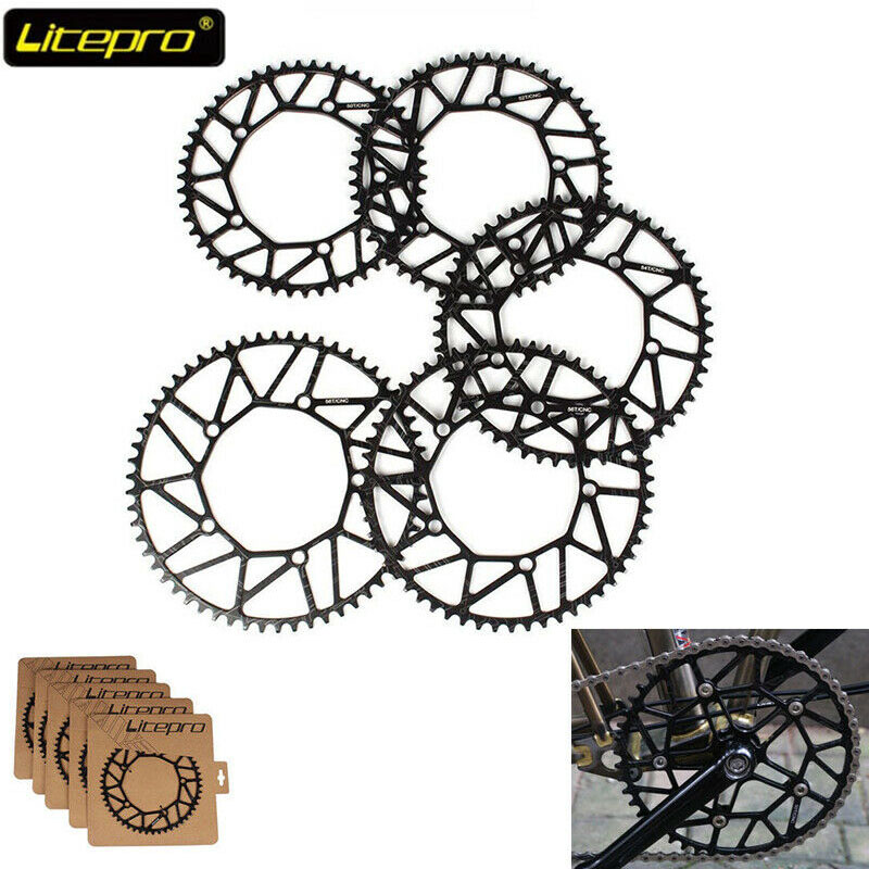 Litepro Hollow BCD130mm Bicycle Chainring Single Speed 50-58T Sprockets Chain