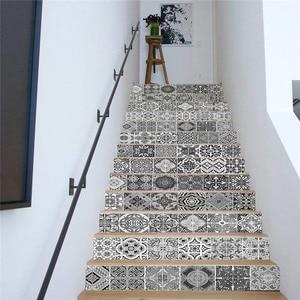 13 шт./компл. 100*18 см 3D самоклеющиеся наклейки для лестницы, наклейки для пола, водонепроницаемый ПВХ DIY домашний декор, обои Мура