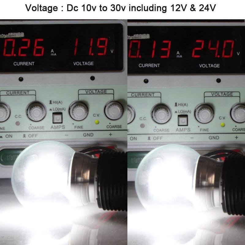 Купить с кэшбэком ampoule led B22 E14 E27 4W 12V 24V bulb light low voltage G50 glass bubble ball energy saving lamp 12 24 volt super boat lights