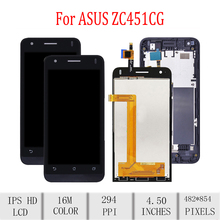 Original For ASUS Zenfone C ZC451CG Z007 LCD Display Touch Screen Digitizer Assembly For Asus ZC451CG Display with Frame Screen