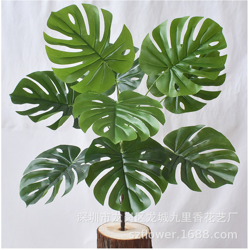 Branches Simulation Turtle Leaf Green Plant Artificial Plants Simulative Tropical Palm Plants Fake Party Plant Home Decoration