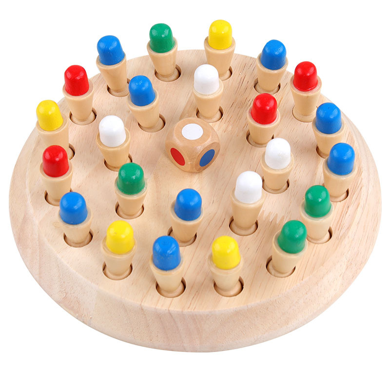 Wooden Color Ji Yi Qi Parent And Child Desktop Exercise Baby Memory Educational Game 3-Year-Old Or Above Wan Ju Qi