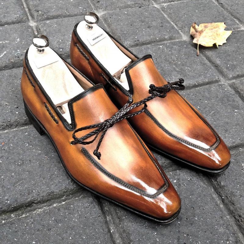 Мужская обувь, новинка 2020, высококачественные мужские модные безопасные туфли из искусственной кожи, мужские винтажные классические лофер...