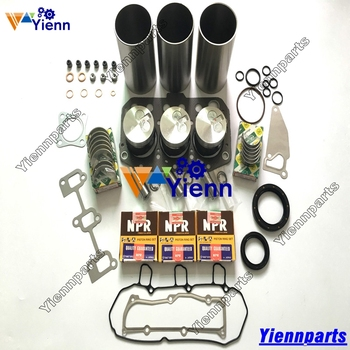 For Yanmar TK370 3TNV70 Overhaul Rebuild Kit Piston Ring Cylinder Liner Gasket Bearing Set For HITAICHI ZX10U-2 IHI 15NX-2