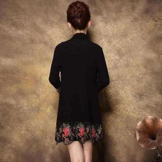 Пляжные 2019 зимние женские платья до колена с цветочным узором; элегантные платья больших размеров; 4xl 5xl 6xl; платье из двух предметов; JC45