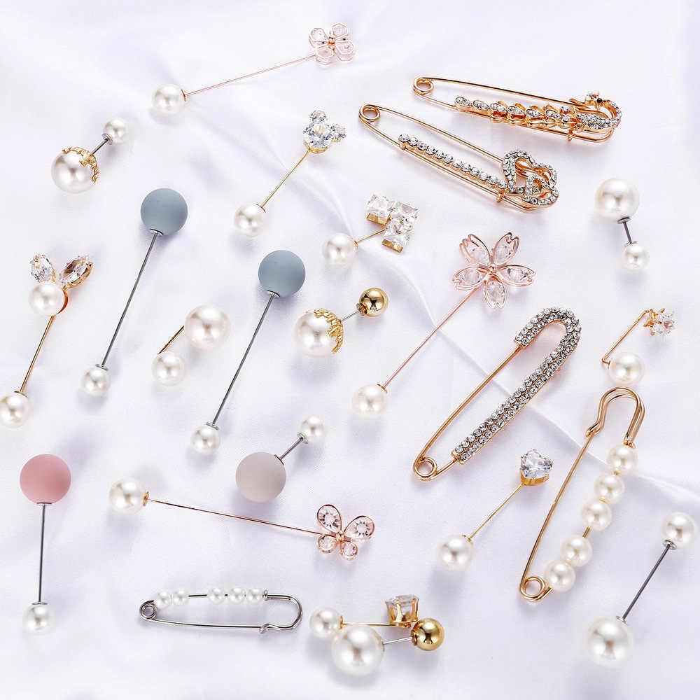 23 stili Big Perle di 8 Chakra Simulato Pearl Spilla Spille Decorazione di Strass Fibbia Spille Gioielli Spille Per Le Donne Degli Uomini